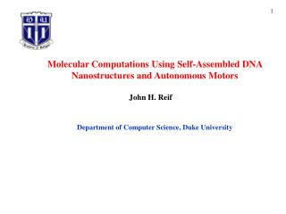 Molecular Computations Using Self-Assembled DNA Nanostructures and Autonomous Motors