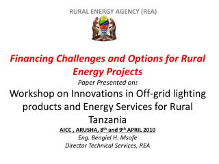 RURAL ENERGY AGENCY (REA)
