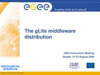 The gLite middleware distribution