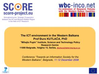 THE ICT environment in the Western Balkans R&D investment in ICT sector – IPTS;