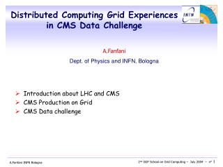 Distributed Computing Grid Experiences  in CMS Data Challenge