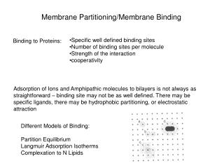 Membrane Partitioning/Membrane Binding