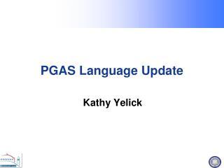 PGAS Language Update