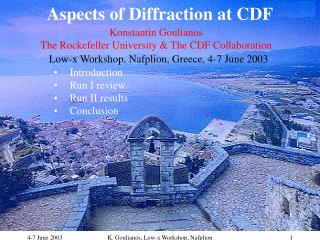 Aspects of Diffraction at CDF