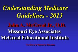 Excellence in Optometric Education