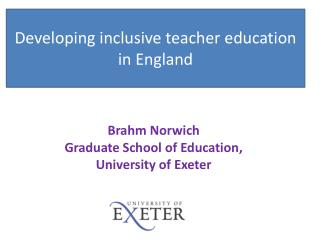Developing inclusive teacher education in England