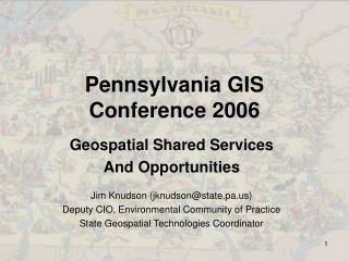 Pennsylvania GIS  Conference 2006