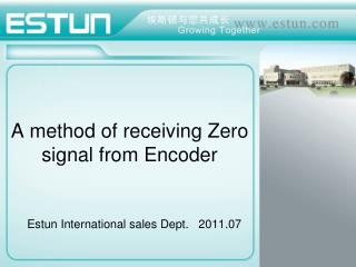 A method of receiving Zero signal from Encoder