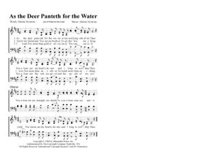 As The Deer Panteth for the Water