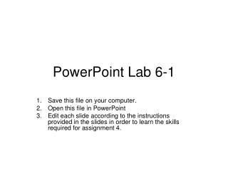 PowerPoint Lab 6-1