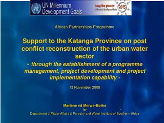 African Partnerships Programme