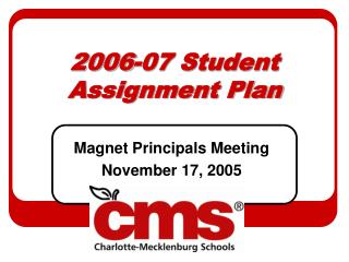 2006-07 Student Assignment Plan