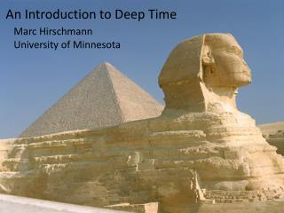 An Introduction to Deep Time