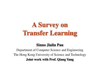 A Survey on  Transfer Learning