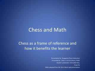Chess and Math