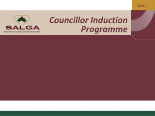Councillor Induction Programme