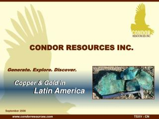 CONDOR RESOURCES INC.