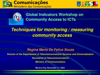 Global Indicators Workshop on Community Access to ICTs