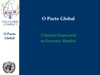 O Pacto Global