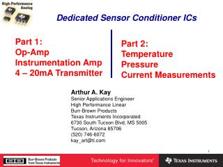 Dedicated Sensor Conditioner ICs