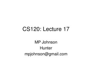 CS120: Lecture 17