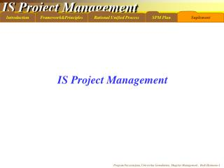 IS Project Management
