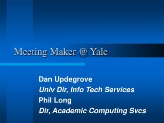 Meeting Maker @ Yale