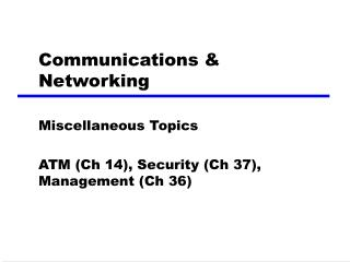 Communications & Networking