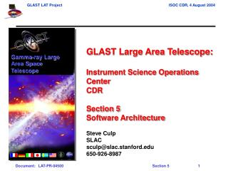 GLAST Large Area Telescope: Instrument Science Operations Center CDR Section 5