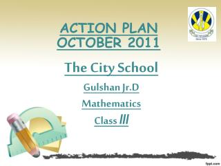 ACTION PLAN  OCTOBER 2011