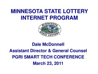 MINNESOTA STATE LOTTERY INTERNET PROGRAM