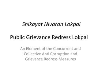 Public Grievance Redress Lokpal