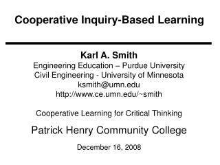 Cooperative Inquiry-Based Learning