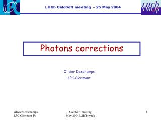 Photons corrections