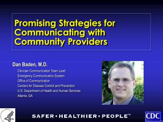 Promising Strategies for Communicating with Community Providers