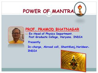 POWER OF MANTRAS