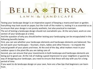 Bella Terra Lawn and Landscape