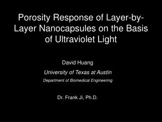 Porosity Response of Layer-by-Layer Nanocapsules on the Basis of Ultraviolet Light