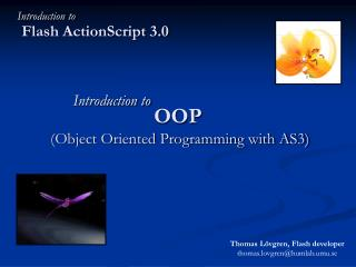 OOP  (Object Oriented Programming with AS3)