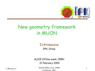 New geometry framework  in MUON