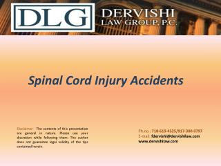Spinal Cord Injury Accidents