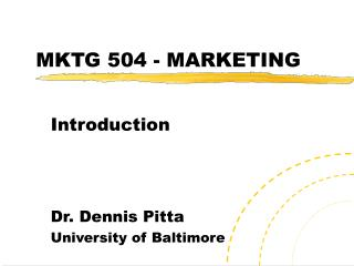 MKTG 504 - MARKETING