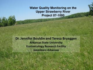 Water Quality Monitoring on the  Upper Strawberry River  Project 07-1000