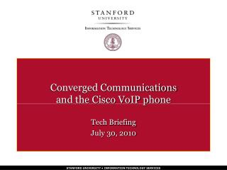 Converged Communications and the Cisco VoIP phone
