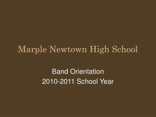 Marple Newtown High School