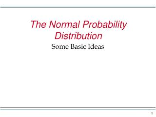 The Normal Probability Distribution