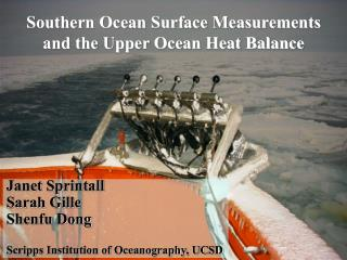 Southern Ocean Surface Measurements and the Upper Ocean Heat Balance