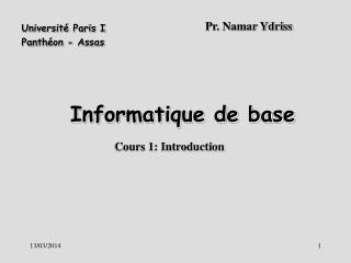 Informatique de base
