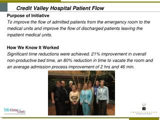 Credit Valley Hospital Patient Flow