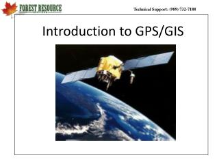 Introduction to GPS/GIS